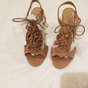 Tan sude bana Republic high heels